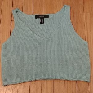Mint green knit crop top from forever 21